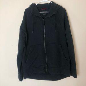 Jordan Air black double zip hoodie
